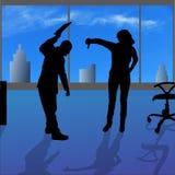 Silhouette de vecteur des personnes Photos libres de droits