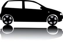 Silhouette de vecteur noir de voiture Photo libre de droits