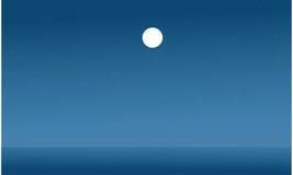 Silhouette de vecteur plat de mer Image stock