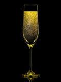 Silhouette de verre coloré de champagne sur le noir Photos libres de droits