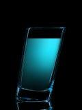 Silhouette de verre coloré pour le tir sur le noir Photo libre de droits