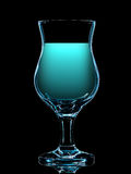 Silhouette de verre de cocktail coloré sur le noir Photo stock