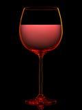 Silhouette de verre de vin coloré sur le noir Image libre de droits