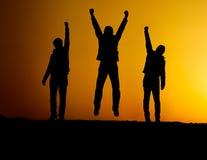 Silhouette de victoire Image stock