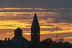 Silhouette de vieille école Image libre de droits