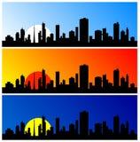 Silhouette de ville illustration stock