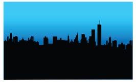 Silhouette de ville Photographie stock