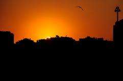 Silhouette de ville d'Istanbul Images stock