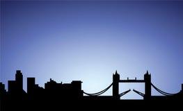 Silhouette de ville de Londres, Angleterre illustration libre de droits