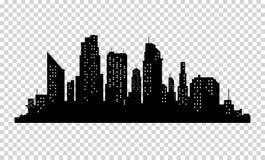 Silhouette de ville de vecteur illustration libre de droits