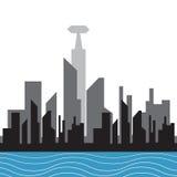 Silhouette de ville de vecteur illustration stock