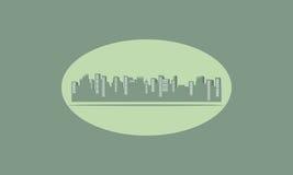 Silhouette de ville plate Photos libres de droits