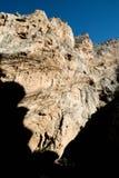 Silhouette de visage de falaise Photographie stock libre de droits