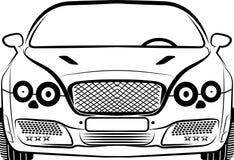 Silhouette de voiture Image libre de droits