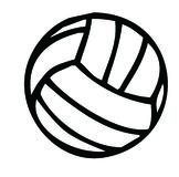 Silhouette de volleyball Image stock