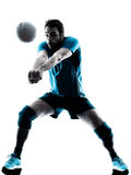 Silhouette de volleyball d'homme Photographie stock