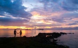 Silhouette de vous et de moi Photographie stock libre de droits