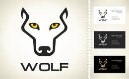 Silhouette de Wolf Head Wolf Logo Vector illustration de vecteur