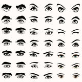 silhouette de yeux et de sourcils, Photos libres de droits