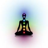 Silhouette de yoga Images libres de droits