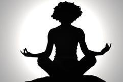 Silhouette de zen Photo libre de droits