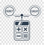 Silhouette debit and credit Royalty Free Stock Image