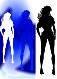 Silhouette debout Photo stock