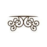 silhouette decorative ornament frames corner design Stock Image