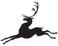 Silhouette deer Royalty Free Stock Photos