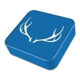 Silhouette of the deer horns. Flat deer icon Stock Image
