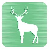 Silhouette of the deer. Flat deer icon Royalty Free Stock Photo