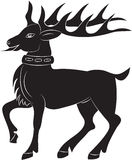 Silhouette of deer Stock Photos