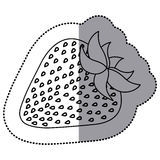 Silhouette delicious strawberry fruit icon. Illustration design Royalty Free Stock Photo