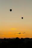 Silhouette des baloons Image libre de droits