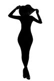 Silhouette des filles de mode photos stock