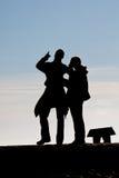 Silhouette des gens Images libres de droits