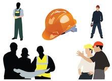 silhouette des ouvriers Illustration de Vecteur