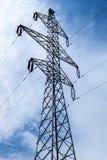 Silhouette des pylônes de l'électricité Photo libre de droits