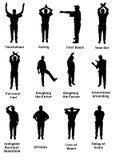 Silhouette des signaux du football illustration libre de droits