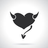 Silhouette of devil heart Royalty Free Stock Image