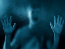 Silhouette diffuse de garçon désespéré Photo libre de droits