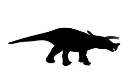 Silhouette Dinosaur. Black Vector Illustration. Stock Photo