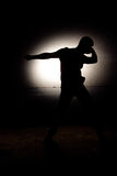 Silhouette of disco dancer Royalty Free Stock Photo
