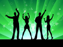 Silhouette Disco Represents Music Profile And Outline Royalty Free Stock Image