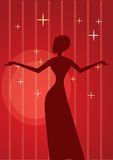 Silhouette of a diva Royalty Free Stock Photo