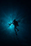 Silhouette of Diver Stock Images