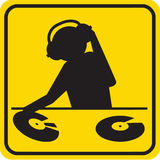 Silhouette of DJ Royalty Free Stock Photo