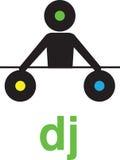 Silhouette DJ Stock Photo