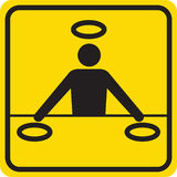Silhouette DJ Stock Image