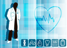 Silhouette of a doctor Stock Photography
